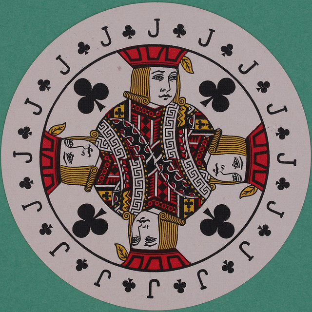 Discus Round Playing Card Jack of Clubs