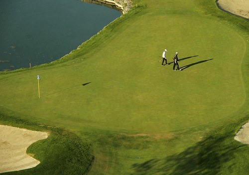 travel blue people green golf landscape pond scenery shadows view ottawa scenic golfcourse
