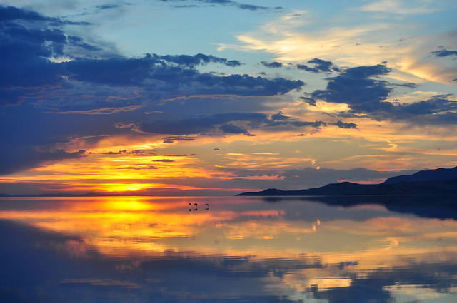 Day's end on the Great Salt Lake