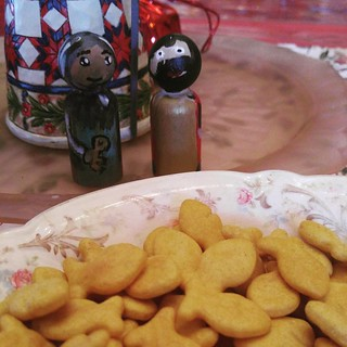 The feast of st. Peter and Paul...celebrated with gold fish crackers. | by elliemom
