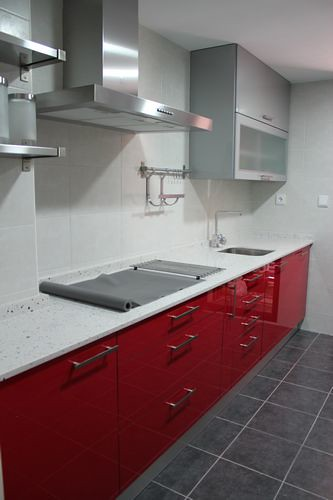 Diseno De Cocinas En Cobena Cocina Moderna Modelo Rey Rojo Flickr