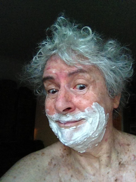 Shaving cream, July fun (Picture taken to show it in Standup Comedy)