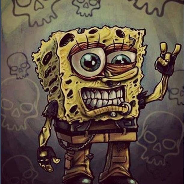 Spongebob Cute Emo Rocker Rocking Metal Zombie Lov Flickr