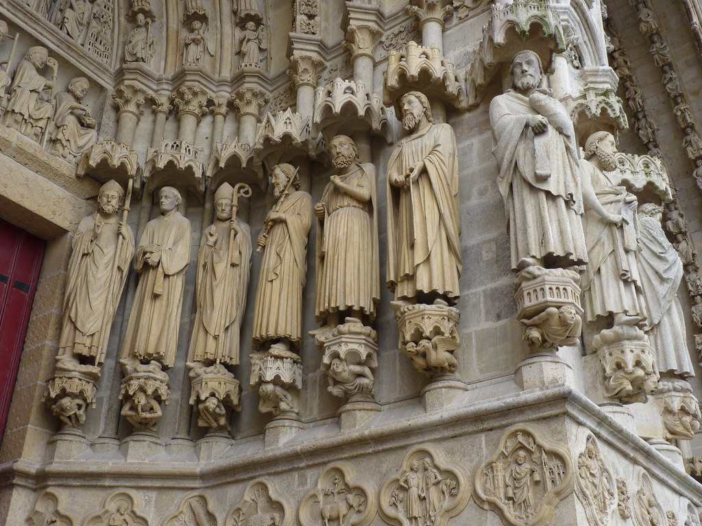 amiens cathedral - statues north portal (2)