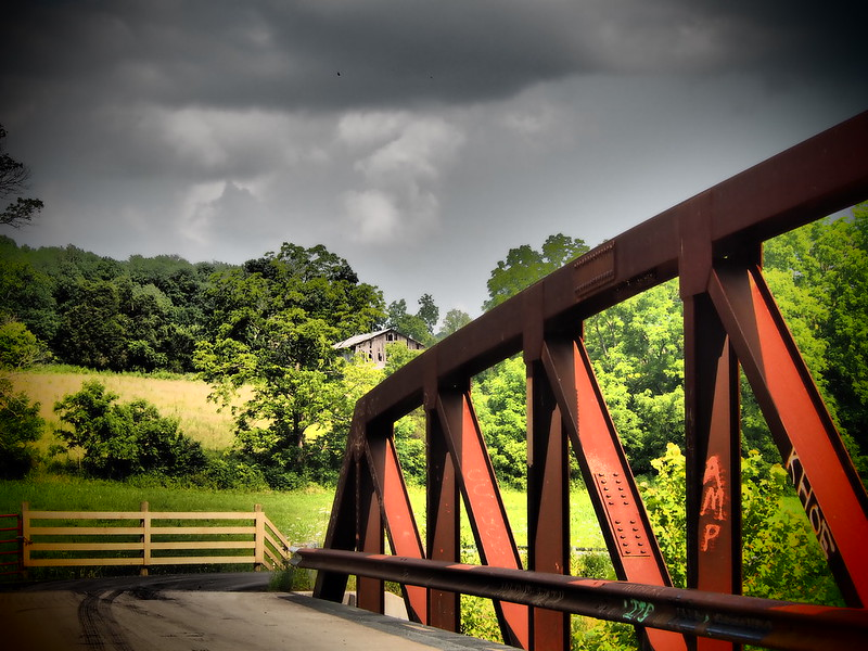 Rothrock Road Bridge, Milltown Indiana--Dramatic Tone