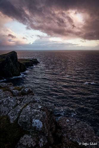 sea lighthouse storm sunrise landscape coast scotland meer sonnenuntergang isleofskye landschaft leuchtturm küste schottland sturm neistpoint hdrpreset