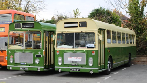 ECW bodied Bristol RELL6G FWC439H & UFM53F at IOW Bus Museum 18 October 2015