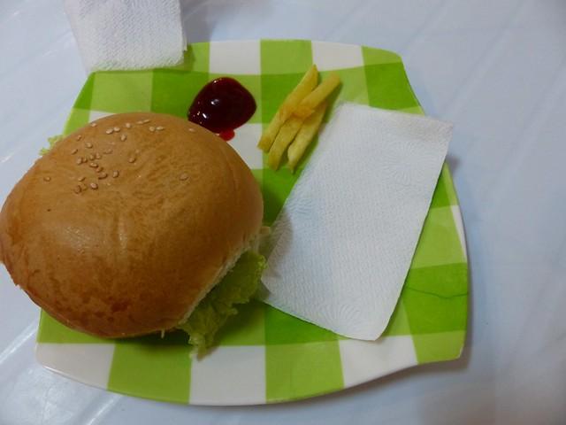 Le fameux burger à 5 frites