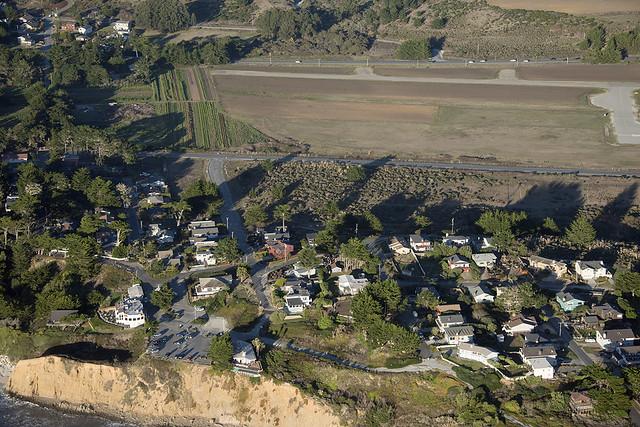 Aerial view of the Moss Beach Distillery, Moss Beach, California