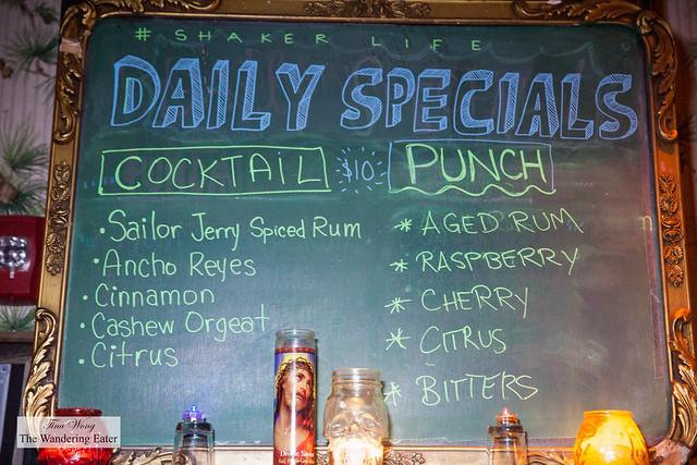 Daily Specials board