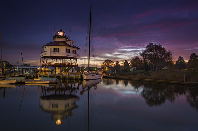 Sunrise at Drum Point Lighthouse,  Solomons, MD