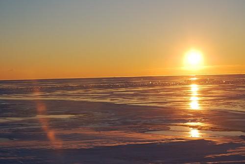 sun lake sunrise michigan lakestclair