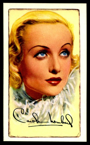 Cigarette Card - Actress, Carole Lombard