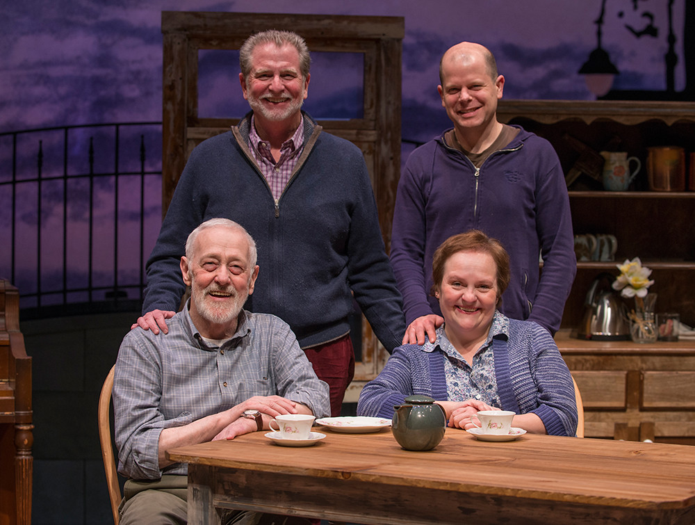 (Clockwise from top left) Director BJ Jones, playwright Christian OReilly, Penny Slusher, and John Mahoney