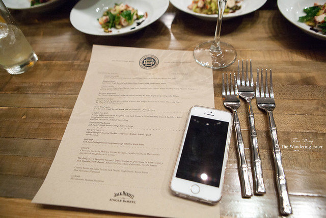 My menu, my iPhone, and some of the place setting