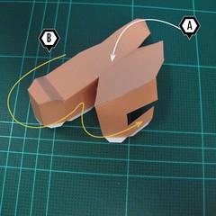 วิธีทำโมเดลกระดาษตุ้กตา คุกกี้สาวผู้ร่าเริง จากเกมส์คุกกี้รัน (LINE Cookie Run – Bright Cookie Papercraft Model) 015