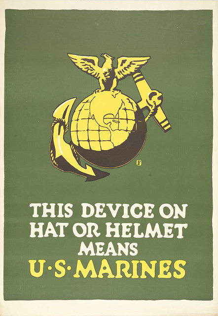 This Device on Hat of Helmet Means U.S. Marines