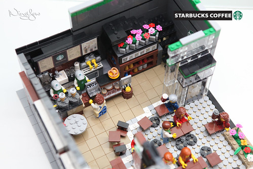 Lego MOC Starbucks Cafe (20) | by WingYew