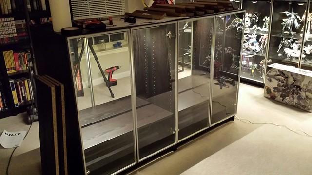 Gunpla Cabinets WIP 2