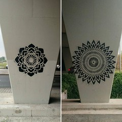 two cool mandala stencil pieces #streetart
