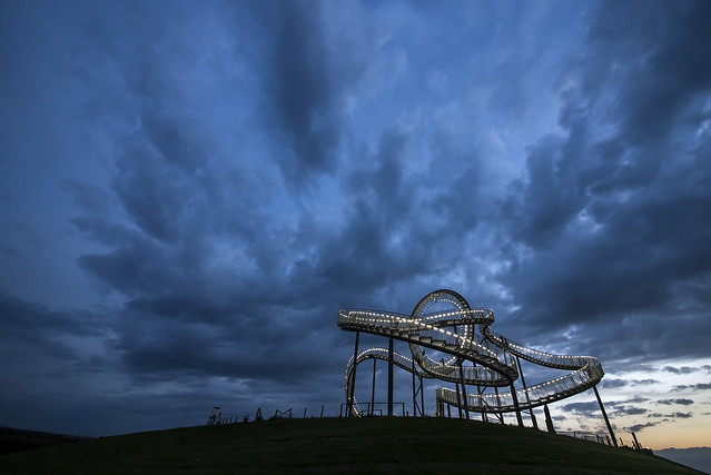 the sky above ' Tiger & Turtle '