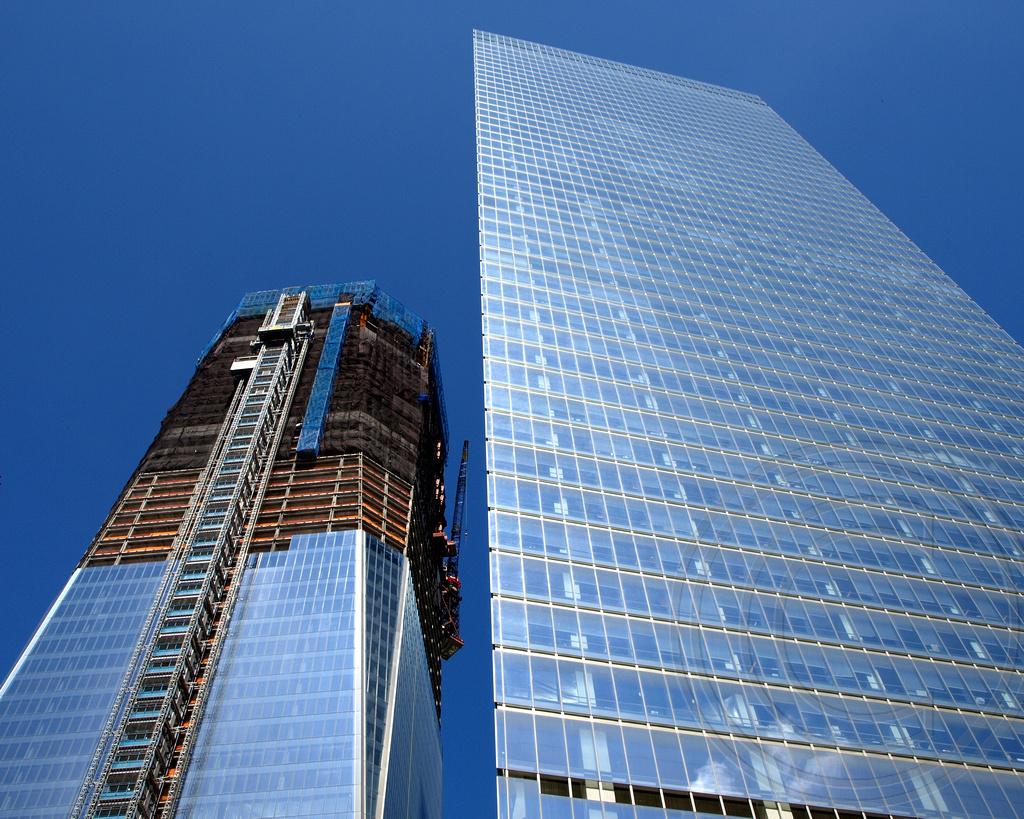 1 World Trade Center (under construction) and 7 World Trad