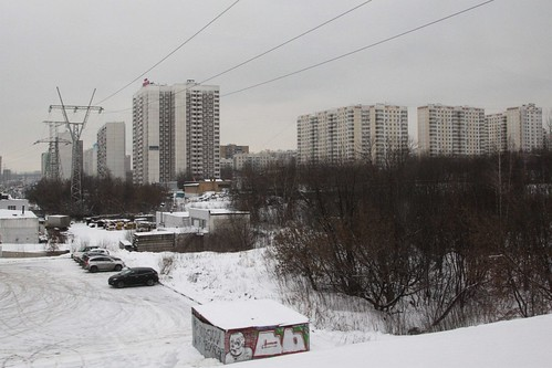 Fields of apartments in Moscow's southern suburbs
