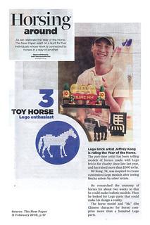 BricksBen - LEGO Jeffrey Kong Brick Artist - Original Print Article Cropped - The New Paper Singapore (1 Feb 2014)   by BricksBen LEGO® Creations