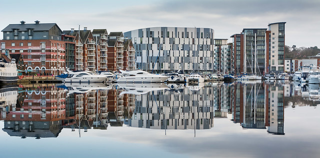 Ipswich waterfront reflections