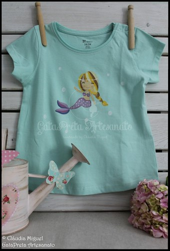 """T-shirts de criança """"Bailarinas e Sereias""""   by GataPreta Artesanato"""