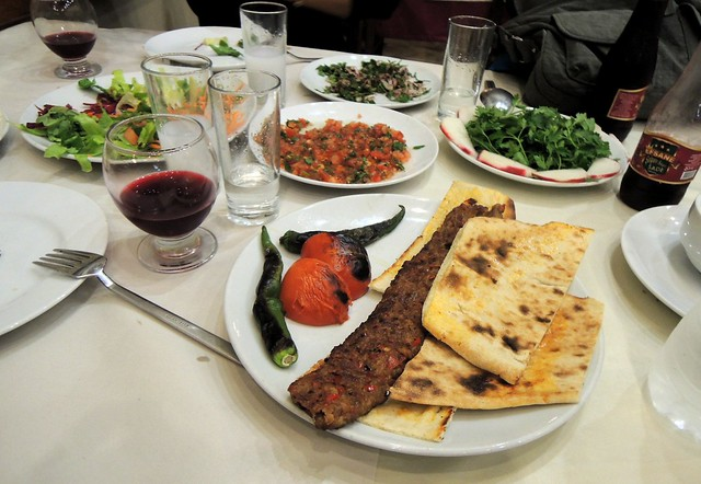 Our first meal in Adana -- an Adana kebap, of course by bryandkeith on flickr