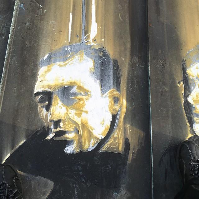 Albert Camus, painted portrait IMG_0129