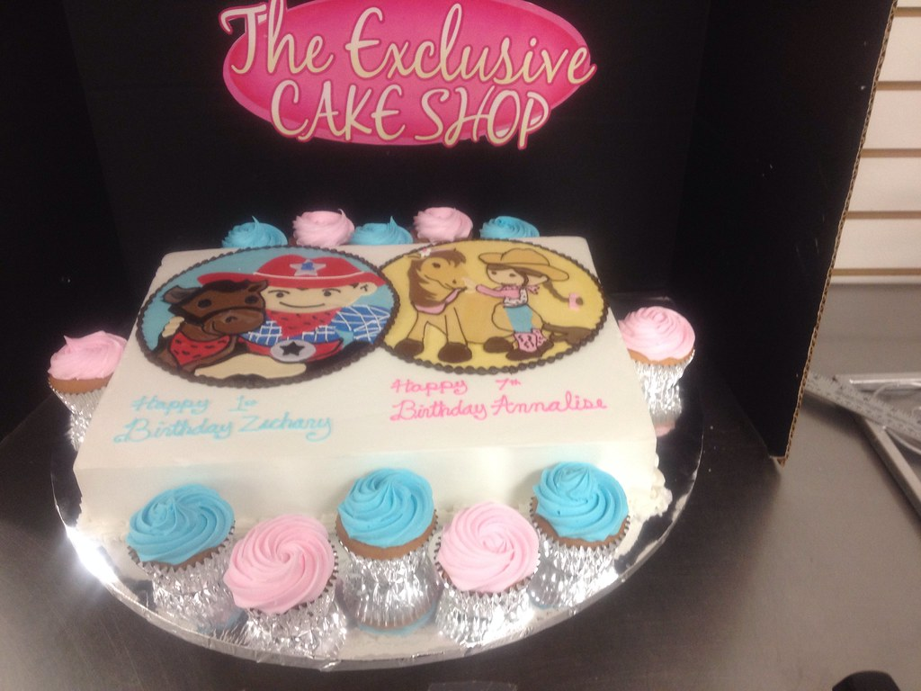 Half Girl Boy Birthday Cake