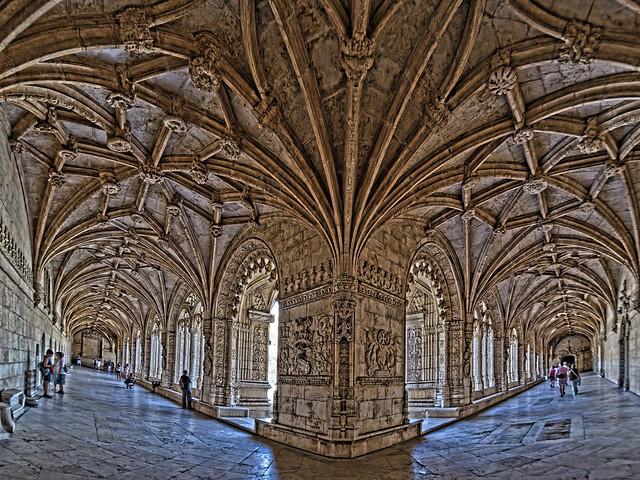 Cloître, monastère de Geronimos, Lisbonne