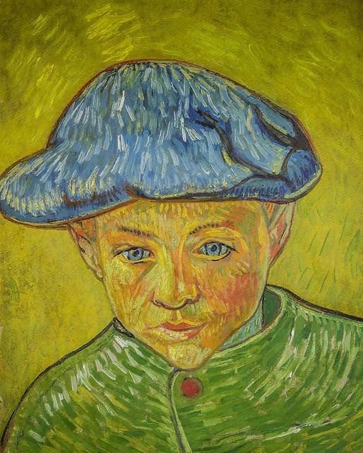 Vincent van Gogh - Portrait of Camille Roulin, 1888 (Van Gogh Museum - Amsterdam) at Van Gogh Repetitions Exhibit - Phillips Collection Art Gallery Washington DC
