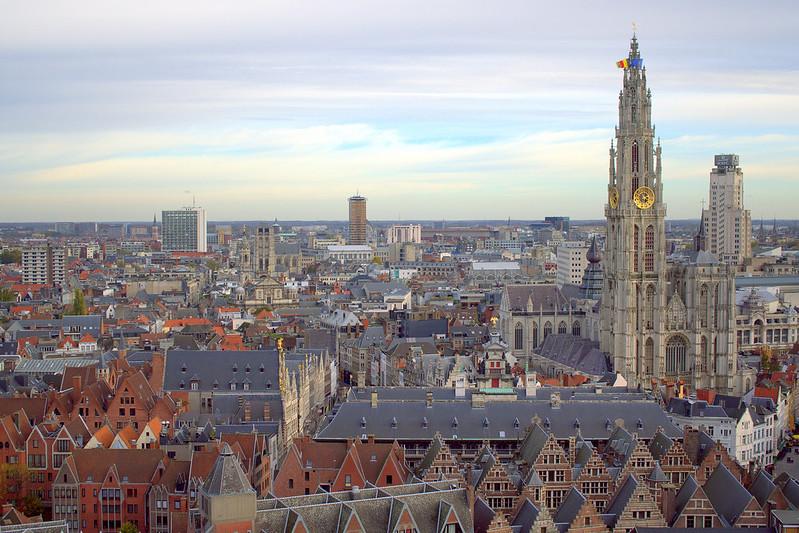 Kite Over Antwerp Belgium