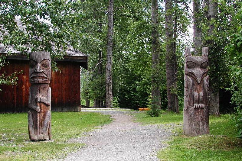 'Ksan Historical Village, Hazelton, Yellowhead Highway 16, Northern British Columbia, Canada