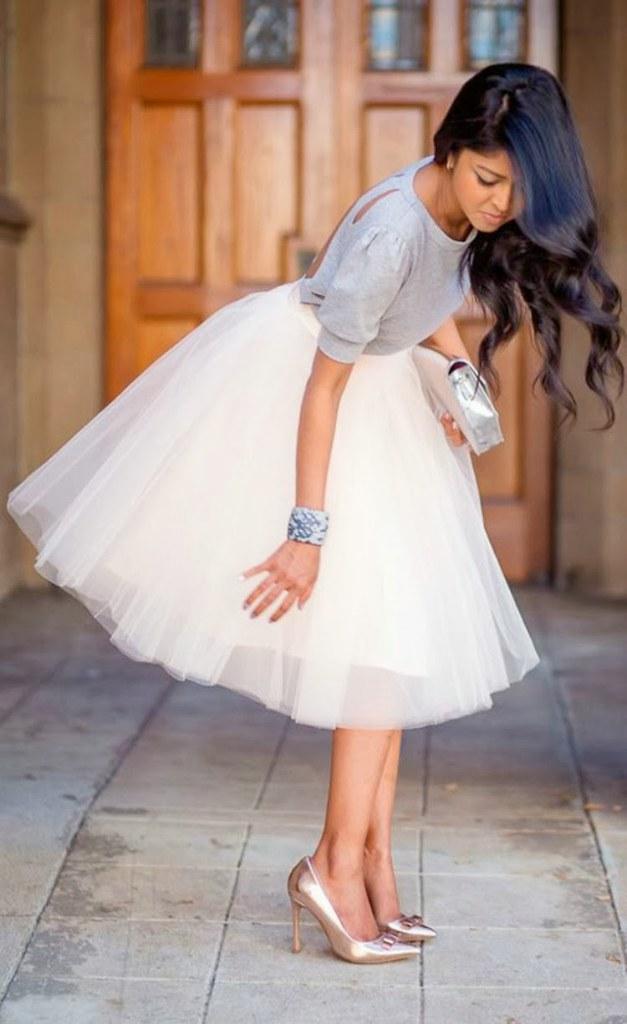 bfc36b8ae ... falda-tul-blanca-blusa-gris