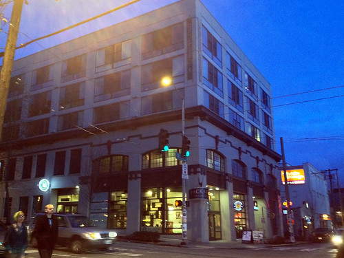 The Blue Hour in Seattle, Evening Edition:  Packard Building (Mixed-Used Apartments & Retail), 12th & Pine, Capitol Hill