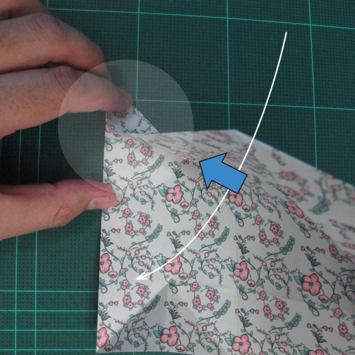 วิธีพับกระดาษรูปหัวใจคู่ (Origami Double Heart)  012