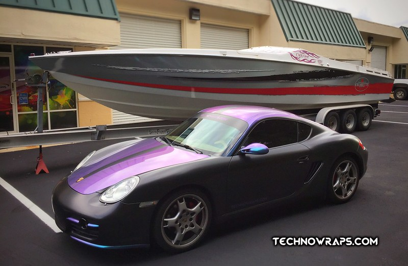 Boat & car wraps by TechnoSigns in Orlando, Florida.