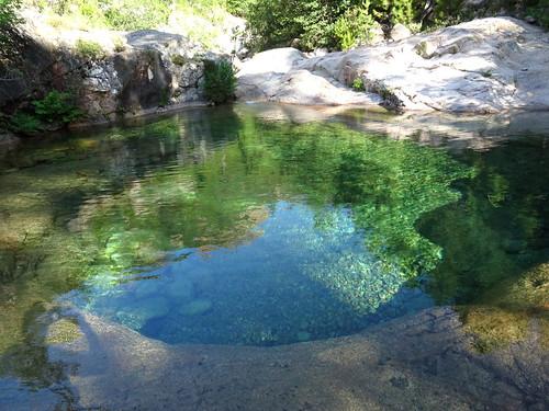Les vasques de la confluence Peralzone/Carciara