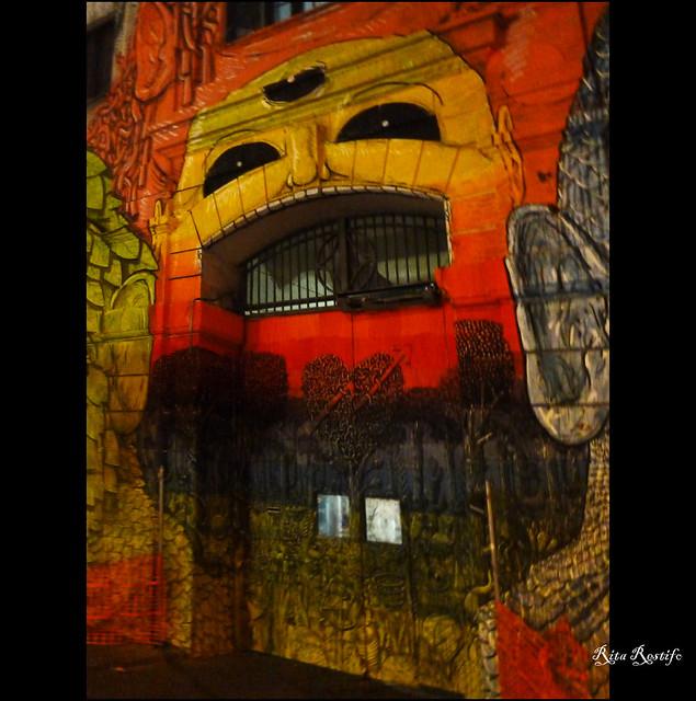 Roma. Fronte del Porto. Street art by Blu