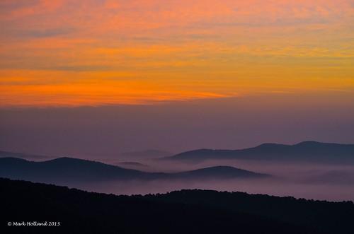 mountains landscape dawn virginia nikon country shenandoah