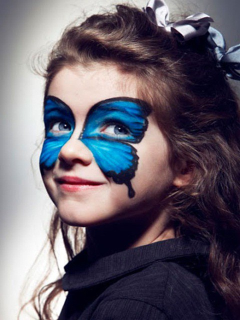 Halloween Makeup Ideas For Kids.Halloween Makeup Ideas Kids Girl Blue Butterfly From Www