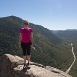 Emily on the cliff, Mount Willard