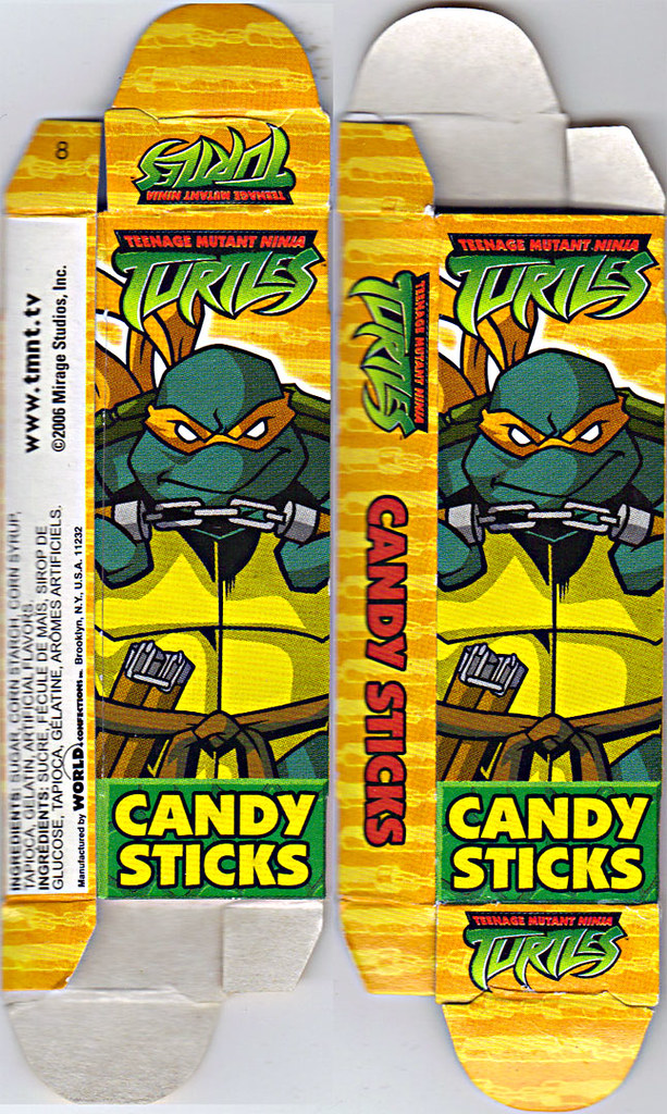WORLD Confections :: COMIX MIX CANDY STICKS vi / ..'Michelangelo' box  (( 2008 )) by tOkKa