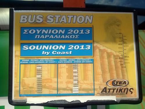 Horarios Bus a Sounion desde Atenas   by Alfonso MR