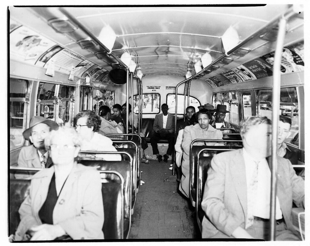 1956 segregated chattanooga bus passengers