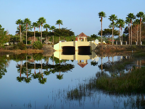 bonitasprings florida westcoast bridge lake us palmtrees lakeshoredrive reflections usa sandraleidholdt reflection unitedstates building landscape architecture